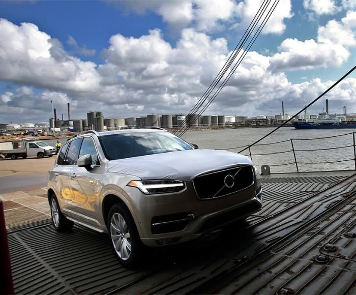 Volvo XC90 is exported through the Port of Gothenburg. Photo: Port of Gothenburg